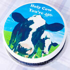 Happy 40th Birthday Cow  Cake Topper - Farm Animal  Birthday  Cake Topper - 7.5""