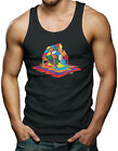 Melting Rubiks Cube - Rainbow Geek Nerd Math Science Men's Tank Top T-shirt