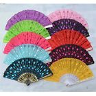 4 X Sequin Folding Hand Fan Chinese Craft Cosplay Party Retro Dance Bling Props
