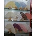 1 X Lady Lace Folding Hand Fan Cosplay Party Fancy Dress Dance Retro 15cm-27cm