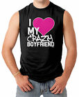 I Love My Crazy Boyfriend - Couple Heart Funny V-Day Men's SLEEVELESS T-shirt