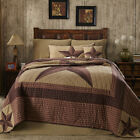 8PC LANDON COUNTRY LONE STAR WESTERN RED BROWN KHAKI QUILT BED SET VHC BRANDS
