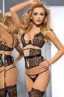 "AXAMI V-5201 & V-5208 ""CARESS ME"" EROTIC PUSH UP BRA & OPEN CROTCH G-STRING"