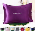 1 pc 100% Silk Pillow case 30MM Heavy Weight Silk Pillowcase King 12 colors