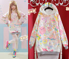 Cute Womens Lolita Macaron Girl Kawaii Hoodie Sweater Harajuku Long Sleeve Coat