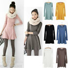 Sexy Women Korean Style Solid Plain Soft Long Sleeve Mini Shirt Dress Skirts New