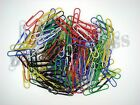 150 Coloured Metal 33mm Paper Clips Paperclips - Choose From 6 Colours