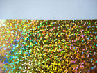 Gold Hotfix Iron on Holographic Sequins PAPER Transfer Applique heat and bond