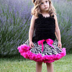 Girls Dancewear Cute Satin Tutu Full Pettiskirt Princess Skirt 3-8Y