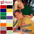 Hanes Mens Unisex shirts S - 6XL New Tee Tagless T-Shirt 30 Colors - 5250 image