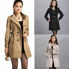 New Fashion Women Lady Long windbreaker Trench Coat Jacket Slim Bodycon Outwear