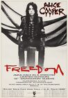 ALICE COOPER Freedom PHOTO Print POSTER Raise Your Fist & Yell 1988 UK Tour 010