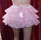SATIN AND LACE RUFFLE KNICKERS ,TV,SISSY LOLITA FRILLY COSPLAY ADULT BABY