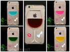 Liquid 3D Wine Glass Cocktail Bottle Phone Case Cover iPhone 4/4S/5/5S/6/6S/6S+