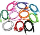 Fabric Braided USB Data Cable charger FOR iphone X 8 7 6 5C 4S micro android 3.0