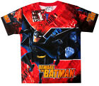 New Boys BATMAN vibrant red summer t-shirt Size 6,8,10,12 Age 4-8 yrs Free Ship