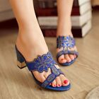 NEW Stunning Womens Suede Sheep Leather High Heels Sandals Sz 1.5-11(T211538)