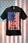 Men's Patriotic T-Shirt USA Flag Keep Calm & Stay Strong Stars & Stripes America