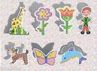 Fuse Bead Template Set  Animals flower people butterfly duck dolphin elephant