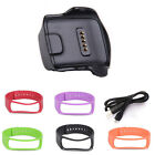 Charge Dock for Samsung Galaxy Gear Fit R350 Watch +Cable+Wrist Strap Tide