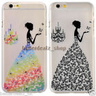 Beauty Butterfly Bride Rhinestone TPU Bling Back Case Cover For iPhone 5 5S 6