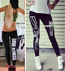 Fad Women YOGA Sport Pants High Waist Cropped Leggings Fitness Trouser AB CA 02