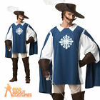 Adult Musketeer Costume Deluxe Mens Medieval Fancy Dress Halloween Outfit New