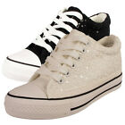 LADIES WOMENS WEDGE TRAINERS SHOES ANKLE LACE UP FLAT HEEL PUMPS BOOTS SIZE 3-8
