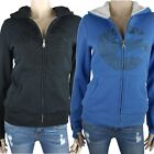 BILLABONG Ladies TRINITY Sherpa Lined Hood Hoodie Jumper (6 8 10) NEW
