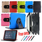 360 Rotate Rubber Tough Life Waterproof Shockproof Smart Flip Tablets Case Cover