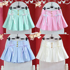 Cute Young Girl Macaron Candy Lolita Mini Pleated Skirt Ribbon Bows 5 colors