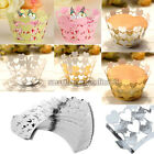 25pcs Heart Vine Cupcake Cake Cup Wrappers Paper Case Wedding Birthday Party