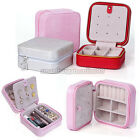 Mini Cosmetic Jewelry Ring Display Organizer Holder Case Travel Portable Zip Box