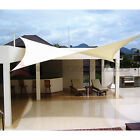 Sun Shade Sail Fabric Outdoor Garden Canopy Patio Pool Awning Cover 12'/16'/18'