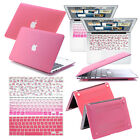 "Pink Rubberized Hard Case + Keyboard Cover for Macbook PRO 13""15""AIR 11""13"" inch"