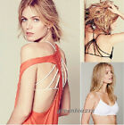 Celebrity Strappy Bralette Cage Caged Back Cut Out Padded Bra Bralet Crop Top