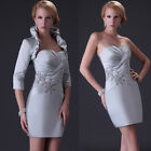 UK FAST FREE SHIP Prom Party Short Formal Mother of the Bride Dress Evening Gown