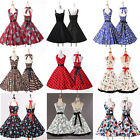 UK CLEARANCE ❤ Rockabilly Housewife Vintage Swing Party Prom Cocktail Dresses ++