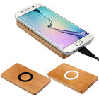 Wooden Face Qi Wireless Charger Pad for Samsung Galaxy S6 / S6 Edge Tide