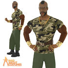 Mr T Costume 80s A-Team BA Baracus Fancy Dress Mens Outfit New