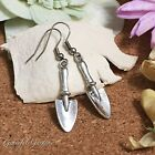 ER2675 Graceful Garden Vintage Style Mechanic Tool Shovel Dangle Hook Earrings