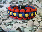 16th / 5th The Queens Royal Lancers 550 Paracord Survival Bracelet / Dog Collar