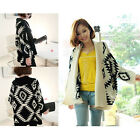 A Aztec Women Open Front Wrap Cape Sweater Jackets Cardigan Loose Oversized Coat