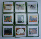 CAT COASTERS - BOXED SETS OF 6 CAT COASTERS - A PURRRRFECT GIFT  FOR CAT LOVERS