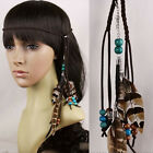 Indian Tribal Feather Headband Beads Masquerade Fancy Dress Necklace Hippie Show