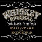 WHISKEY BREWED FOR BIKERS MOTORCYCLE BIKER HOODIE L TO 4X BLACK