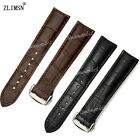 20mm or 22mm New High quality BLACK OR BROWN Genuine Leather Watch Bands strap