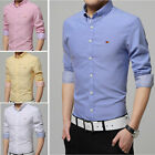 TAT253 New Fashion Men's Luxury Casual Slim Fit Stylish Dress Shirts 7 Color