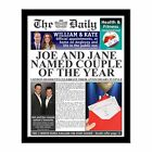 Personalised Wedding Anniversary Newspaper Photo Gift Present 25th 40th 60th