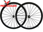 23mm wide U Shape 38mm Clincher carbon road wheels Novatec hub + aero spokes
